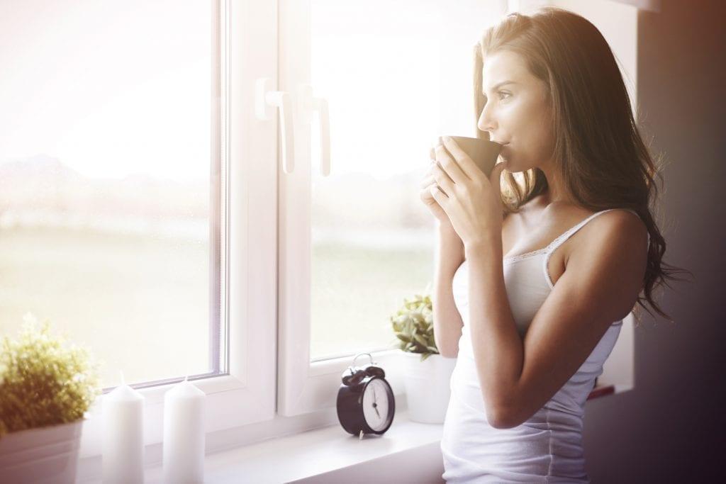 Vidro comum em janela