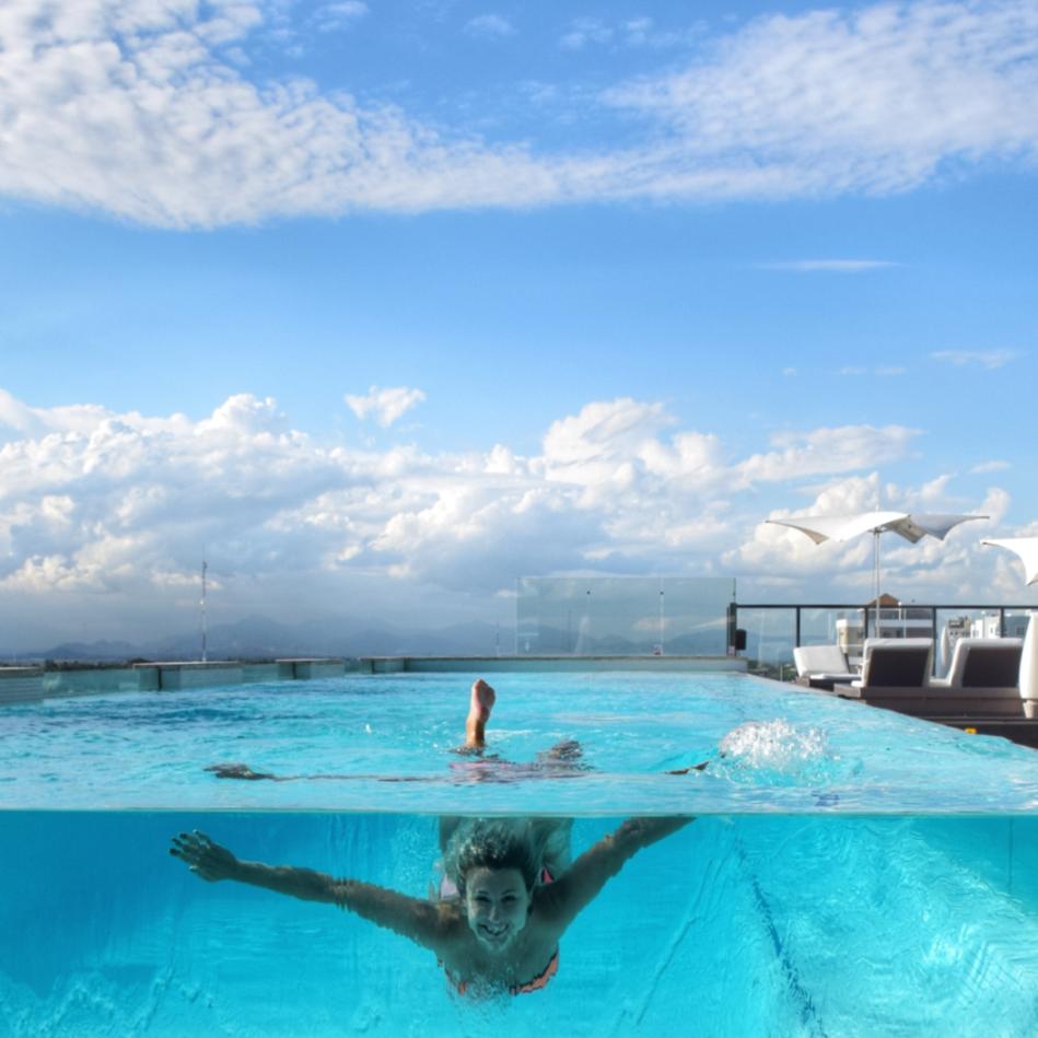 Vidro para piscinas