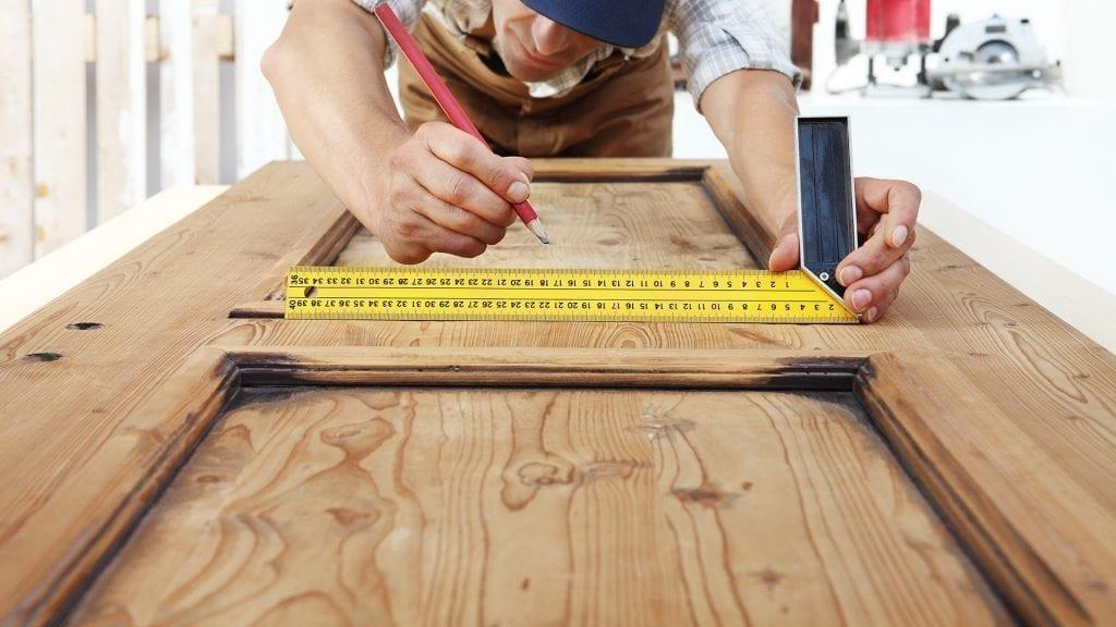 Esquadro para medição de vidros